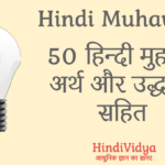 Hindi Muhave With Meaning and Examples