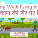 Morning Walk Essay in Hindi