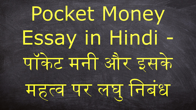 Pocket Money Essay