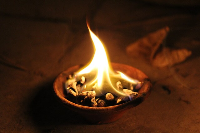 Diya, Light, Flame