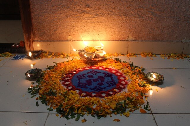 Diwali, Rangoli, Tradition